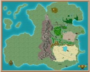 My incomplete fantasy map