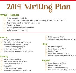 My 2014 New Year Writing Resolutions