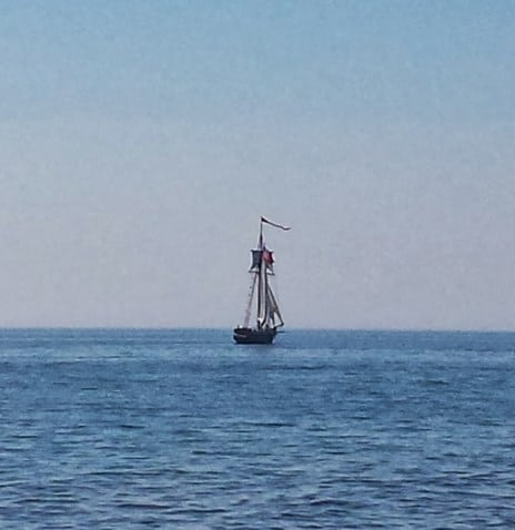 The Friends Good Will under sail on Lake Michigan