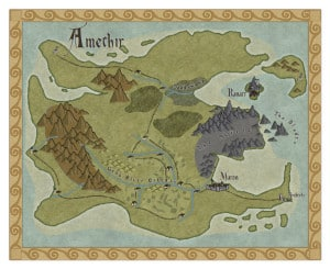 Map of Amethir from Stormsinger and Stormshadow by Stephanie A. Cain