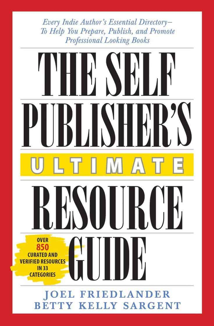 Red and white book cover of The Self Publisher's Ultimate Resource Guide