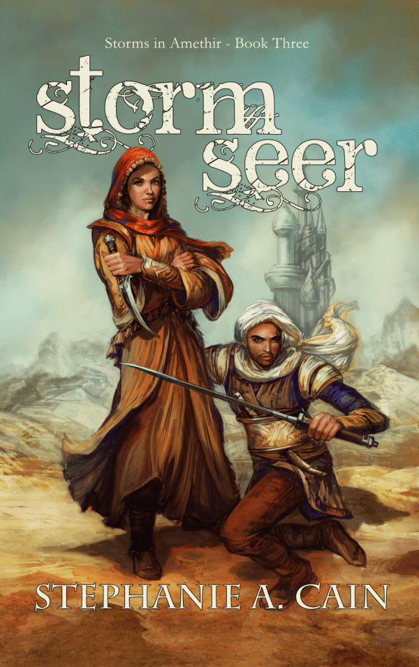 Cover of Stormseer by Stephanie A. Cain, art by Nicole Cardiff