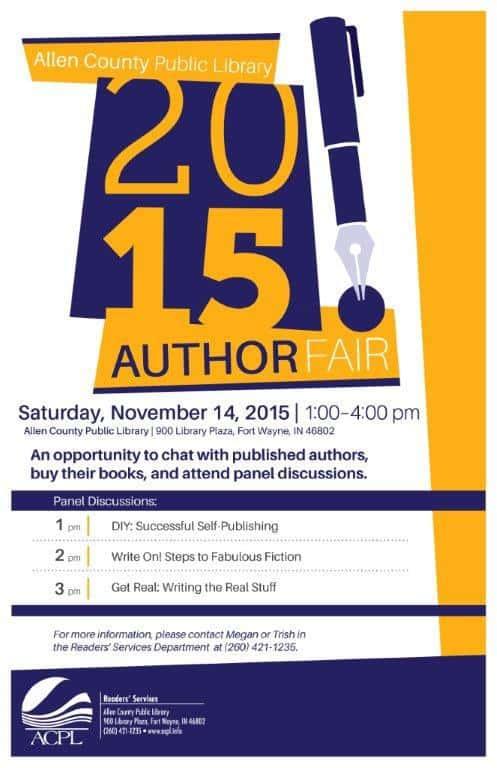 Allen County Public Library's Author Fair on November 14