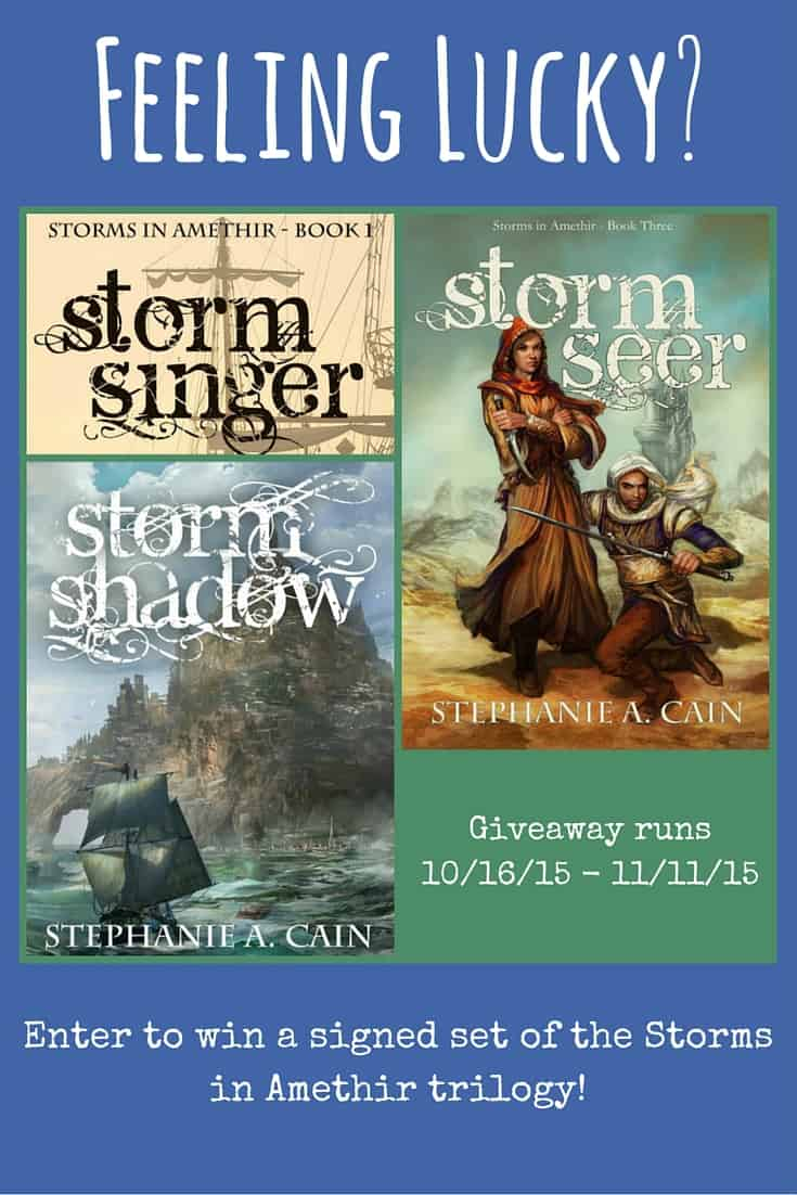 Storms in Amethir trilogy giveaway - win a signed set!