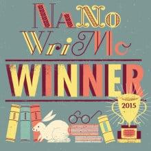 NaNoWriMo 2015 winner's badge
