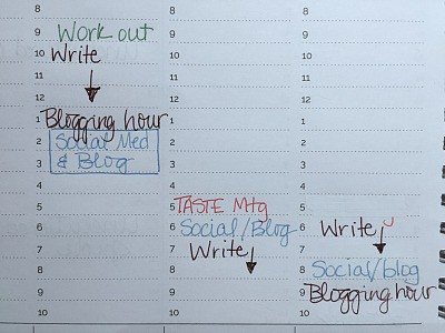 Writers Blocks in my planner