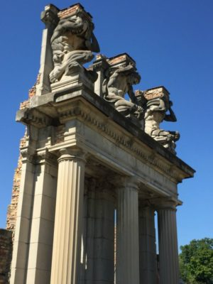 Photograph of The Ruins at Holliday Park -- the Three Races of Man -- Indianapolis, Indiana
