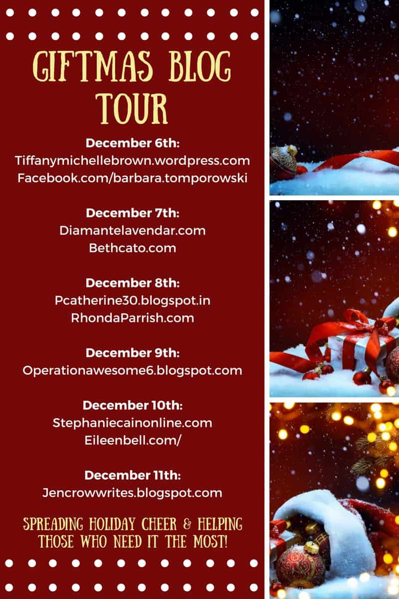 Giftmas Blog Tour Schedule graphic