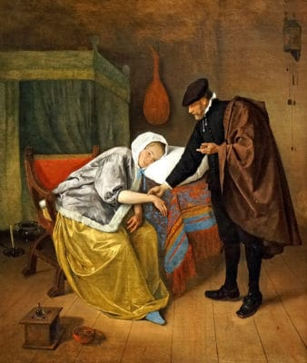 The Sick Woman by Jan Havicksz Steen, photo by Dennis Jarvis - Do you suppose she was making excuses?