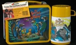 A Secret of NIMH lunchbox with characters from the animated movie